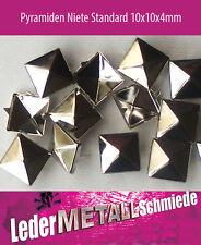 500 Stück Pyramidennieten 10x10mm, silber, Pyramiden Nieten, Ziernieten
