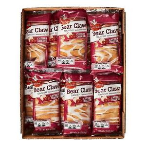 Cloverhill Bear Claw Danish Cherry Cheese 12 count