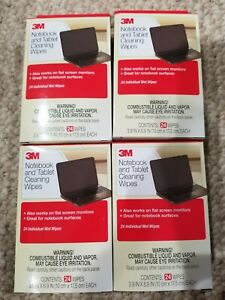 3M Computer Screen and Monitor Cleaning Wipes - 24 Pack x4= 96 wipes