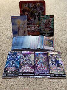 Yu-Gi-Oh Mega Tin Bundle + 100 Cards Inc. 20 Holo/Rare + Booster Packs +More