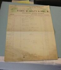1895 Geo. Nolty Practical Horse Shoers Signed Advertising Billhead Lancaster PA