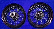 "BLACK 16"" FRONT/REAR WHEEL SET HARLEY SOFTAIL HERITAGE FLSTC FAT BOY 1986-1999"