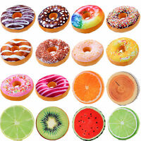 3D Plush Donut Fruit Cushion Pillow Round Seat Chair Pads Bed Sofa Home Decor