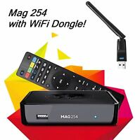 MAG 254 IPTV Set Top Box Multimedia Player Internet TV Console USB + WIFI 150Mpb