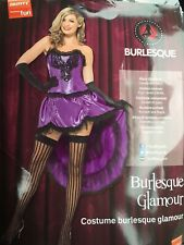 Smiffy's burlesque Halloween Sexy Fancy Dress Costume Bnwt Uk M 12-14