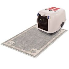 Non Slip Litter Box Mat Dirt Catcher Floor Protector 35 x 23 Durable Easy Clean
