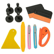a set of Car Film Wrap Vinyl Tools Kit Scratch Squeegee Razor Cutter 4Magnets