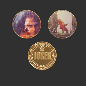 Two gold plated American Joker collectible coins