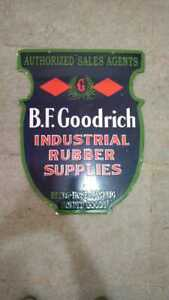 """Porcelain BF Goodrich Enamel Sign Size 20"""" x 25"""" Inches Double Sided"""