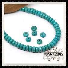 FREE LOT 50pcs Jewelry Making Turquoise Rondelle Loose Beads Strand Gemstone 8MM