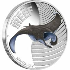 Australian Sea Life II - The Reef - Manta Ray 2012 1/2oz Silver Proof Coin
