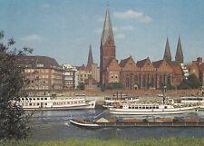 0858. colour-AK. BREMEN. Weser und Stadt. Kalenderblatt. Ungelaufen. 1970/80er