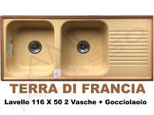 Lavello Living 50012 116 X 50 2 Vasche + Gocciolatoio Terra Di Francia