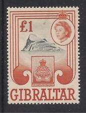 GIBRALTAR  1960-62  £1 black & brown-orange  SG173  UMM