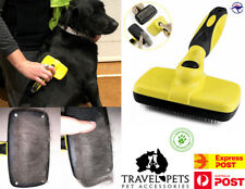 Self Cleaning Slicker Brush Cats Dogs Animals Grooming Brushing Fur Dematting