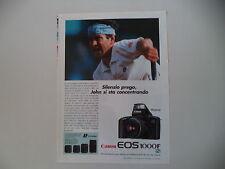 advertising Pubblicità 1993 CANON e JOHN McENROE