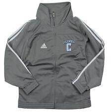Adidas NCAA College Youth Columbia University 3 Stripe Track Jacket, Grey