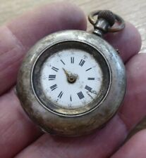 / Pocket Watch Antique Solid Silver Fob
