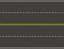5 Highway Road Seamless Paper Scenery Sheets for O Scale Model Train Layouts