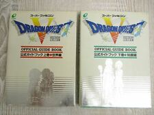 DRAGON QUEST V 5 Guide Set 1 + 2 w/Map SFC Book EX*