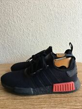 Adidas NMD R1 CORE BLACK LUSH RED 2016 B37618 Size 8.5 US Men's  Pre-Owned