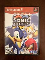 Sonic Heroes Sony PlayStation 2 PS2 Game Complete TESTED FREE S/H