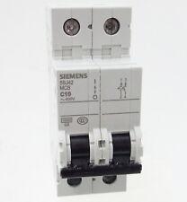 Siemens 5SJ42 C10 Sicherungsautomat 5SJ4210-7CC20 Leitungsschutzschalter 10A 2P