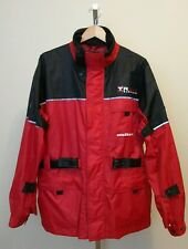 MOSSI Motosports Apparel Xtreme Riding Gear Men Red Black Motorcycle Jacket Sz L