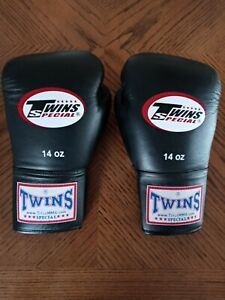 Twins SPECIAL Gloves Training Sparring Boxing Muay Thai Kickboxing MMA 14OZ
