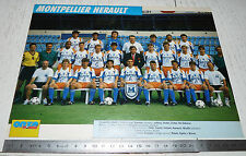 CLIPPING POSTER FOOTBALL 1992-1993 MONTPELLIER HERAULT MHSC LA PAILLADE MOSSON