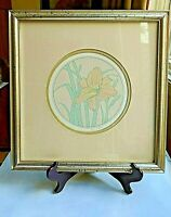 Lucius DuBose Hand Signed & Numbered 19/75 Hand Colored Framed Floral Print VNTG