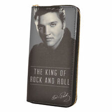 Elvis Presley King Of Rock & Roll Zip Around Purse Ladies Gift Idea
