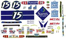 #15 JEFFERY EARNHARDT Sam's Club Ford Mustang 1/43rd Scale SLOT CAR Decals