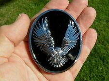 UK~ WILD EAGLE MOTORCYCLE BADGE Chrome Metal Emblem *UNIQUE* fit HARLEY DAVIDSON