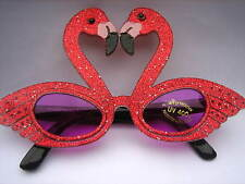 SPARKLING RED LOVE SWANS PARTY SUNGLASSES / GLASSES #PG 9007