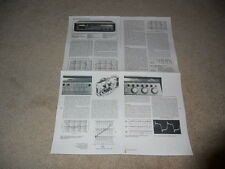 Nakamichi 582 Cassette Review, 4 pg, 1979, Full Test, Specs, Info