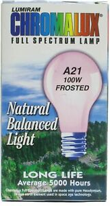 100 Watt Full Spectrum Frosted Light Bulb by Chromalux, 1 piece