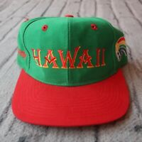 Vintage 90s University of Hawaii Rainbow Warriors Fitted Hat Cap Rare