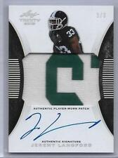 2015 Leaf Trinity PATCH/AUTO BLACK Jeremy Langford RC #d 3/3