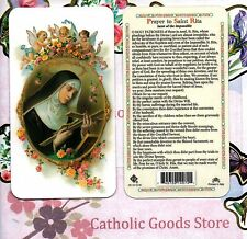 Prayer to Saint St. Rita - Saint of the Impossible - Plastic Holy Card