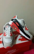 NIKE AIR MAX 90 MESH SHOES PRE SCHOOL ORANGE/WHITE/ FOR  BOY'S  SIZE 3Y.
