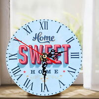 Vintage Antique Wooden Rustic Wall Clock Shabby Chic Retro Home Kitchen Decor