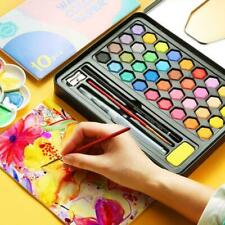 36 Colors Watercolour Paint Set With Brush Water Painting Pen Art Artist B8Q4