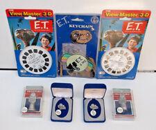 Vintage E.T. View Master, Keychain, Souvenir Lot NEW