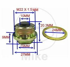 Magnetic Sump Plug, Oil Drain Plug M22 x 1.50- fits many Ducati bikes- see list