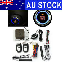 AU PKE Keyless Entry Car Alarm System Remote Start & Push Button Start Engine  K