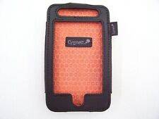CYGNETT IPOD TOUCH 2G G2 LEATHER CASE BLACK COVER SHELL POUCH STICHED BELT CLIP