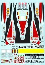 Colorado Decals 1/32 AUDI R10 TDI AUDI SPORT LE MANS 2008