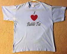 I LOVE BUBBLE TEA shirt light blue men's large t-shirt