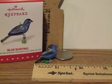 Hallmark 2015 Blue Bunting Miniature Ornament Inspired By Beauty of Birds
